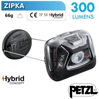 【PETZL】ZIPKA 超輕量緊湊型頭燈/300流明.IPX4防水.LED頭燈(E093GA00 黑)