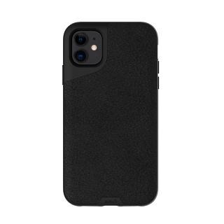 【Mous】Contour 天然材質防摔保護殼-墨黑皮革(iPhone 11 6.1吋)