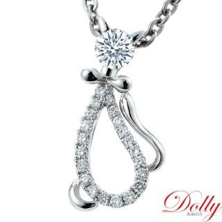 【DOLLY】天然鑽石 0.30克拉完美車工 14K金鑽石項鍊(024)