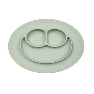 【美國ezpz】mini mat迷你餐盤+餐墊:抹茶綠(FDA認證矽膠、防掀倒寶寶餐具)