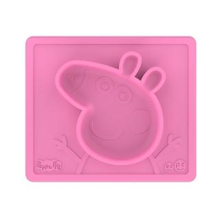 【美國ezpz】Peppa Pig聯名餐盤:佩佩豬(FDA認證矽膠、防掀倒寶寶餐具)