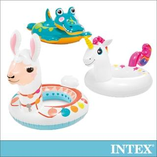 【INTEX】造型游泳圈-獨角獸/羊駝/鱷魚(適用3-6歲_58221)