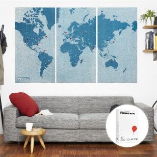 【palomar】拼世界地圖 XL版 藍色(圖針 30針裝)