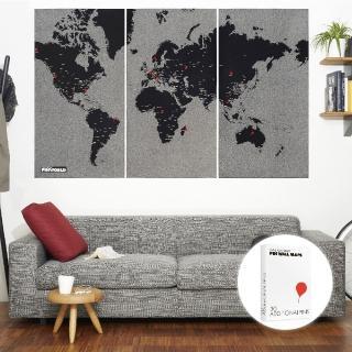 【palomar】拼世界地圖 XL版 黑色(圖針 30針裝)