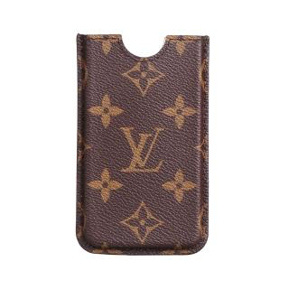 【Louis Vuitton 路易威登】LV Outlet M60289 經典Monogram帆布造型手機套(咖啡)