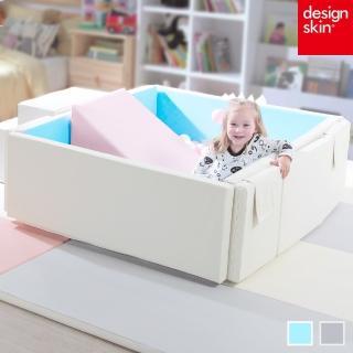 【韓國design skin】兒童遊戲城堡圍欄球池(超厚款二色任選/嬰兒床)