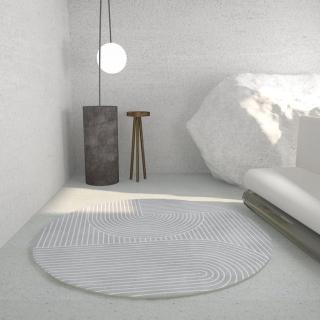 【BUNNY LIFE 邦妮生活館】北歐風長毛絨扎染地毯-淺灰120x190cm