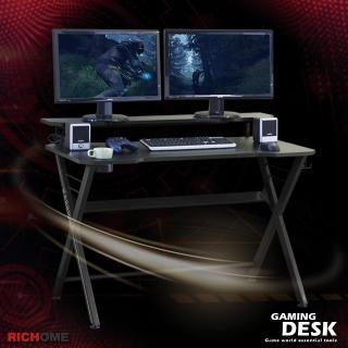 【RICHOME】WARRIOR電競遊俠電腦桌-雙層款(3色)