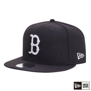 【NEW ERA】9FIFTY 950 MLB WHITE ON 紅襪 棒球帽(黑)