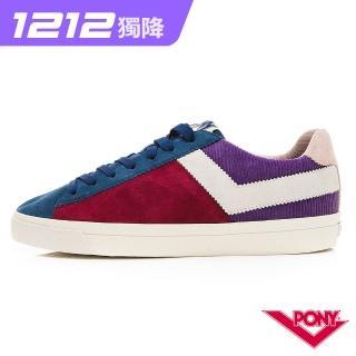 【PONY】Top Star系列獨特色彩拼接百搭休閒鞋 板鞋 滑板鞋 藍紅色