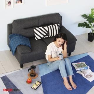 【RICHOME】愛麗日式厚座墊雙人布沙發(舒適扶手)