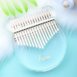 【美佳音樂】奧福樂器 Kalimba 卡林巴琴/拇指琴-超值全配.17音水晶透明-小熊款(贈高級拇指琴盒)