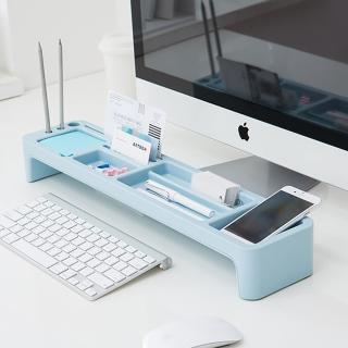 【LITEM 里特】桌上文具鍵盤收納架 薄荷藍(鍵盤架 文具收納 置物架 電腦架 桌上收納架)