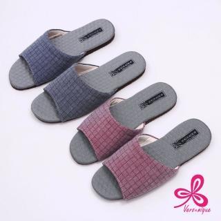 【維諾妮卡】格紋竹炭機能乳膠室內拖鞋(2色)