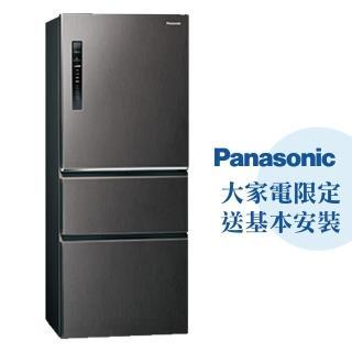 【Panasonic 國際牌】500公升一級能效三門變頻冰箱—絲紋黑(NR-C500HV-V)