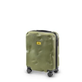 【義大利Crash Baggage】條紋防撞行李箱20吋(橄欖綠)