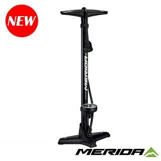 【MERIDA 美利達】立地式打氣筒 聰明嘴160PSI 黑(補胎 自行車 單車)