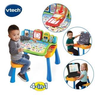 【Vtech】4合1多功能互動學習點讀寫桌椅組(2019新版)