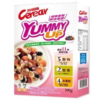 【喜瑞爾】Yummy up 纖果美莓綜合果麥(300gx1盒)