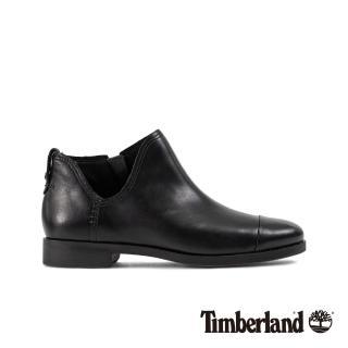 【Timberland】女款黑色全粒面休閒鞋(A1HUL015)