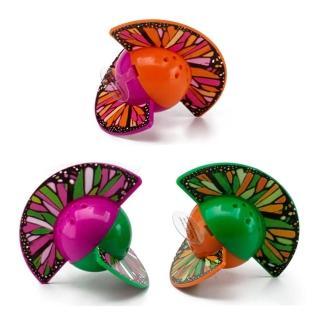 【OurPets】蝴蝶感統球音效貓玩具-三色可選