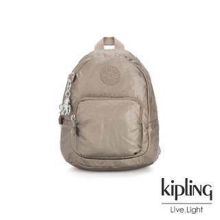 【KIPLING】優雅古銅棕灰兩用側背雙肩包-GLAYLA