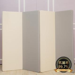 【Mang Mang 小鹿蔓蔓】兒童4cm摺疊地墊(四折200L-鋼琴灰)