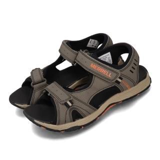 【MERRELL】涼拖鞋 Panther Sandal 運動 女鞋 郊遊 踏青 健走 透氣 舒適 中大童 灰 黑(MK261235)