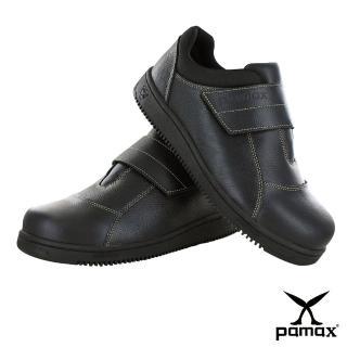 【PAMAX 帕瑪斯】高抓地力安全鞋超彈力氣墊★黏貼式、工作鞋、鋼頭鞋(PT08501FEH)