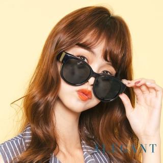 【ALEGANT】時尚豆沙紫圓框全罩式偏光墨鏡/外掛式UV400太陽眼鏡(外掛式/包覆式/寶麗來墨鏡/車用太陽眼鏡)