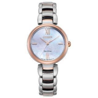 【CITIZEN 星辰】L系列璀璨光動能時尚腕錶(EM0536-84Y)