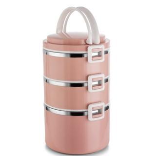 【PUSH!】餐具用品SUS304不鏽鋼密封不易漏飯盒保溫多層分格日式便當盒(E139)