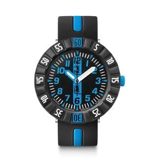 【Flik Flak】兒童錶 BLUE AHEAD 藍色衝鋒(36.7mm)