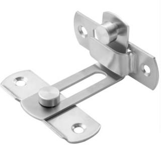 HE024-L 大號不鏽鋼門鎖 90度門扣白鐵打掛鎖 門栓直角鎖 門閂 掛扣(白鐵雙用打掛閂 門鎖 簡易平閂)
