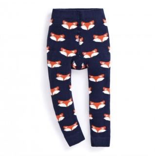 【JoJo Maman BeBe】嬰幼兒內搭褲/保暖襪_滿版狐狸(JJD7907)
