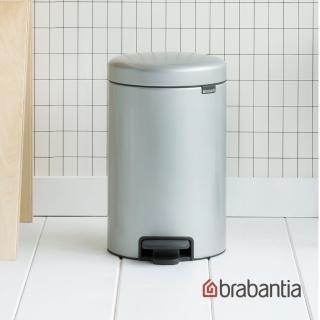 【Brabantia】NEWICON環保垃圾桶(12L金屬灰)