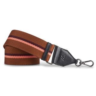 【MARKBERG】Finley 丹麥手工時尚編織寬版肩揹帶(珊紅棕)
