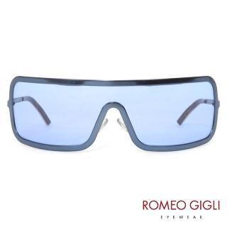 【Romeo Gigli】義大利一片式前衛款太陽眼鏡(藍-RG512-01)