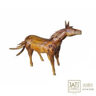 【吉迪市柚木家具】小木頭拼接造型馬