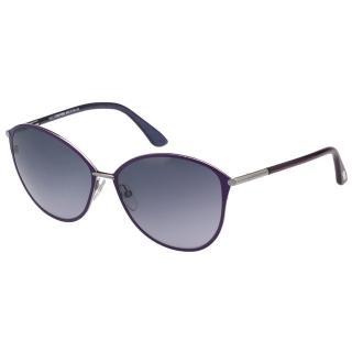 【TOM FORD】復古 小貓眼 太陽眼鏡(紫色)