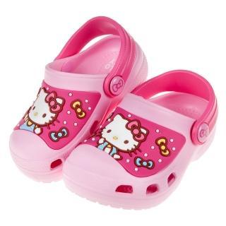 【布布童鞋】HelloKItty凱蒂貓童趣蝴蝶結粉色兒童布希鞋(C9V272G)