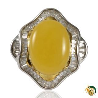 【金玉滿堂】雞油黃天然蜜蠟戒指