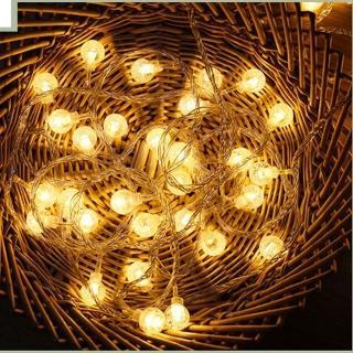 【聖誕布置/半島良品】24H發貨/3米水晶燈/燈串/聖誕燈/裝飾燈(掛布 過年 新年 聖誕燈 生日燈 佈置)