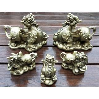 【開運陶源】雕塑大師羅廣維 原作限量36組銅雕(貴氣貔貅全家福5件組)