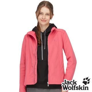 【Jack wolfskin 飛狼】女 防風刷毛保暖外套 軟殼(桃紅)