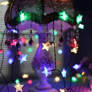 【聖誕布置/半島良品】24H發貨/彩色3米星星燈/燈串/聖誕燈/裝飾燈(掛布 過年 新年 聖誕燈 生日燈 佈置)