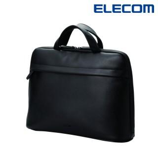 【ELECOM】BETSUMO 軟皮手提包13.3吋-黑(BM-BE01BK)