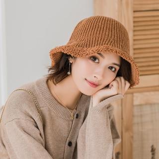 【Acorn 橡果】韓系純色保暖漁夫帽圓頂帽遮陽帽1712(焦糖)