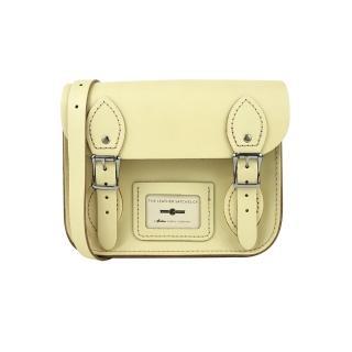 【The Leather Satchel Co.】8.5吋 英國手工牛皮劍橋包 肩背包(檸檬黃)