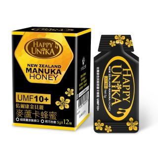 【Happy Unika 佑爾康金貝親】麥蘆卡蜂蜜UMF10+ 隨身包5g(12入組)